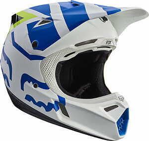 2017 Fox Racing YOUTH V3 Creo Helmet WHITE//YELLOW Moto MX ATV Off Road 17405-214