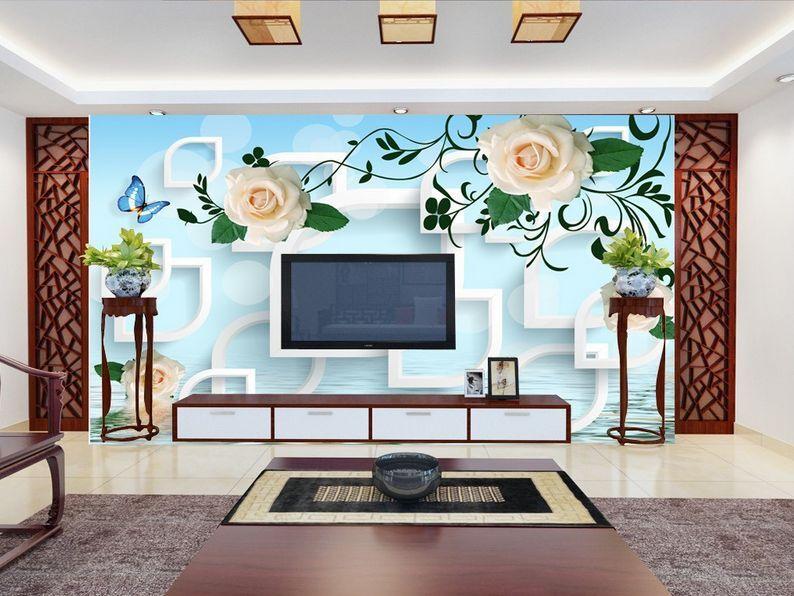 3D Mega Weiß Flowers Patterns 198Wall Paper Wall Print Decal Wall AJ Wall Paper