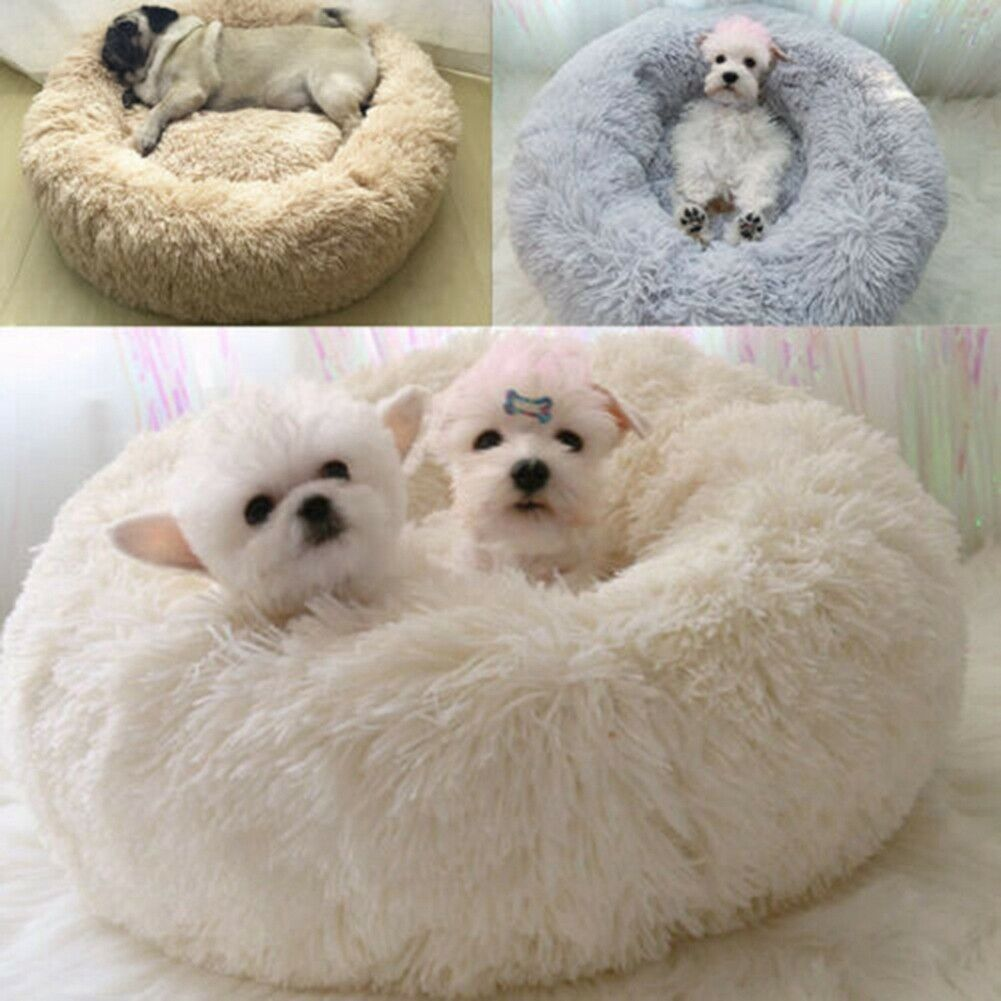 Dog Pet Cat Calming Bed Large Mat Comfy Puppy Washable Fluffy Cushion Soft Plush 7
