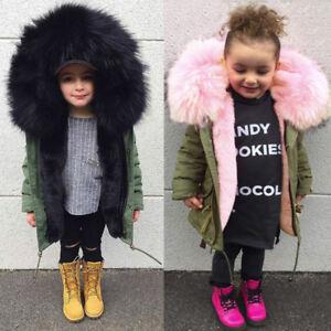 Newborn Baby Girl Winter Warm Cape Toddler Coat Cloak Jacket Fur Outwear Clothes
