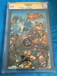 Battle-Chasers-9-Cliffhanger-CGC-SS-9-8-NM-MT-Signed-by-Joe-Madureira