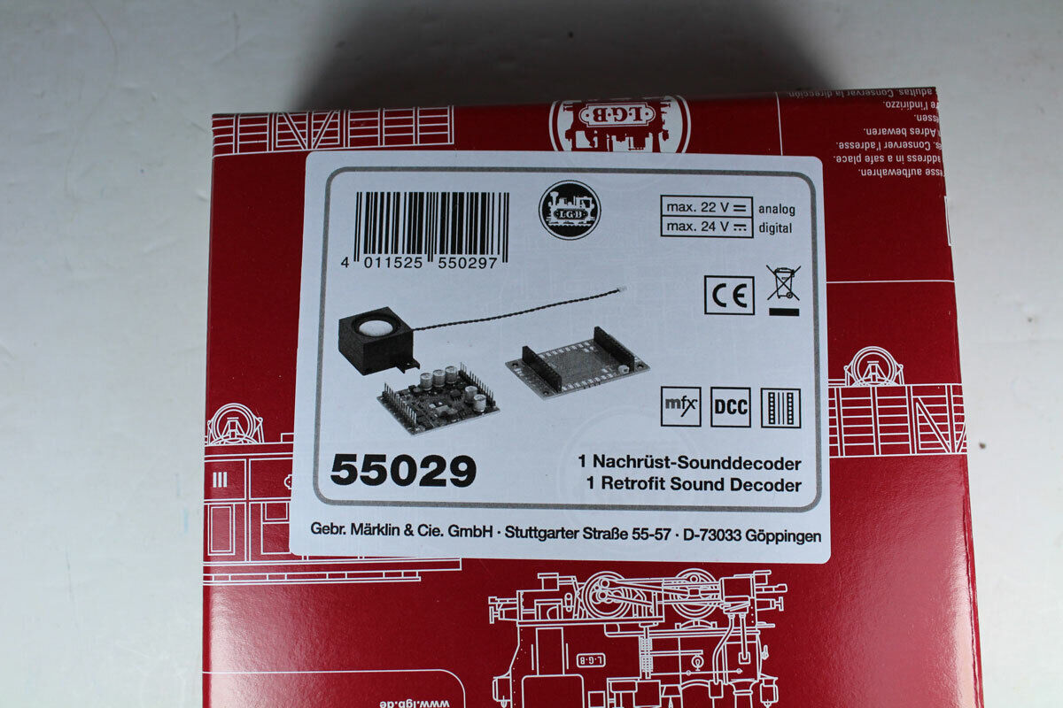 LGB LGB LGB 55029 Nachrüst-Sounddecoder DCC mfx, Neuware.  | Modern  ee321d