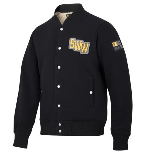 Pile Sweatshirt Work Fleece Lined Jacket BLACK Snickers 2832 RuffWork