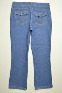 RIDERS-by-Lee-Size-14-P-PETITE-Womens-STRETCH-Flap-Pocket-BOOTCUT-Leg-Blue-Jeans
