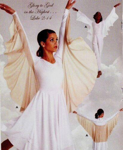 NWT Praise Wear Liturgical Church Dance Glittered Full Circle Angel Wings Shrug