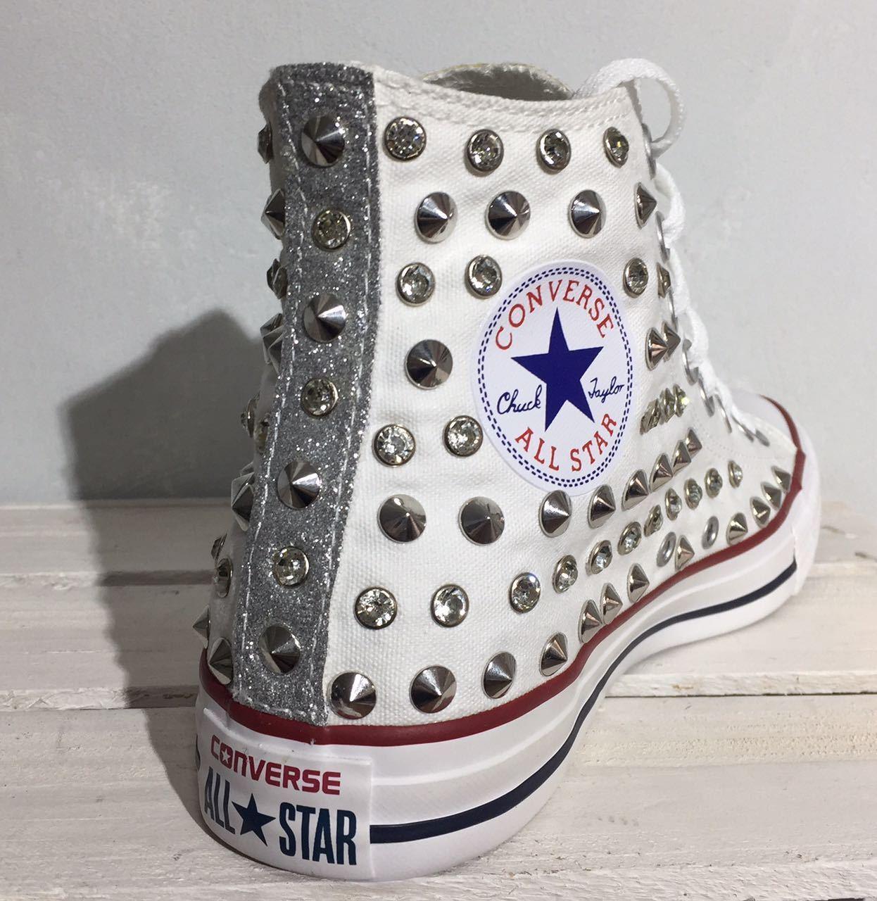 Converse all star borchie borchiate glitter con cristal svarovski e glitter borchiate dbb2dd