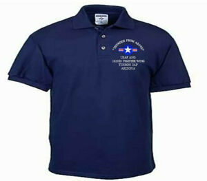 162ND-FIGHTER-WING-TUCSON-IAP-AZ-USAF-ANG-EMBROIDERED-LIGHTWEIGHT-POLO-SHIRT