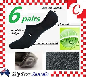 6Prs-Men-Mens-Bamboo-Non-slip-Heel-Grip-Low-Cut-No-Show-Socks-Footlet-Invisible