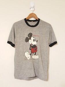 88ef3da95 Vintage 80s Mickey Mouse Ringer T-shirt Heather Blue Size-XL Disney ...