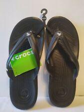 5907db2b0c459a Crocs Crocband Flip Black Unisex Sandals Shoes 9 M for sale online ...