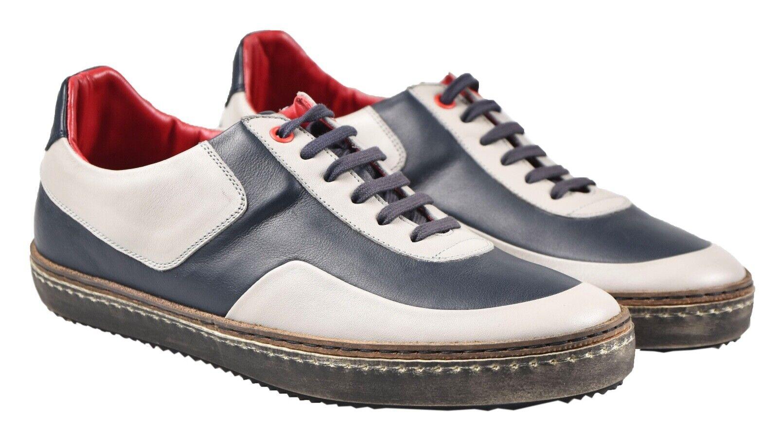 NEW KITON scarpe da ginnastica scarpe 100% LEATHER SZ 8 US 41 EU 19O140