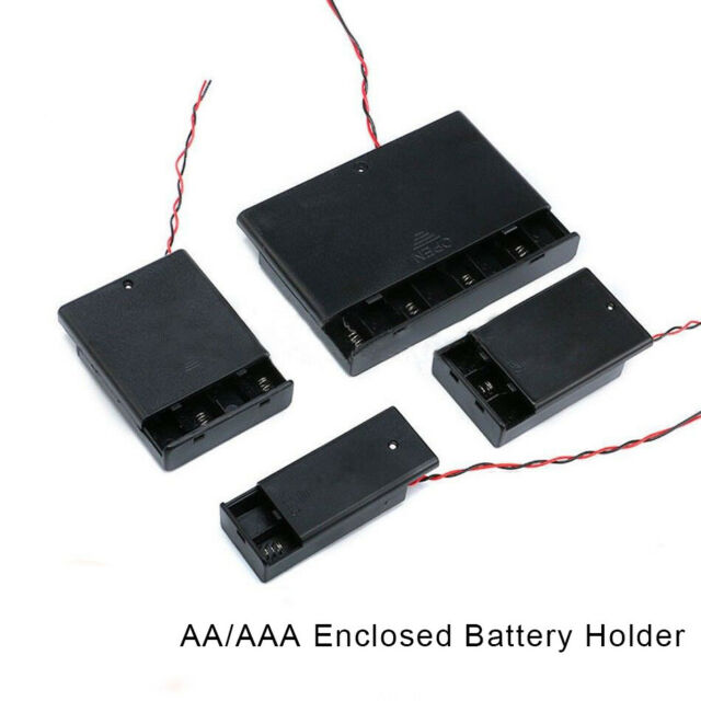 UM-3 pack of 5 Battery holder for 4 X /'AA/' cell hard case with switch