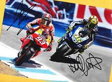 Marc MARQUEZ - Valentino ROSSI - TOP AK Bild (4) Print Copie + Orig.AK signiert