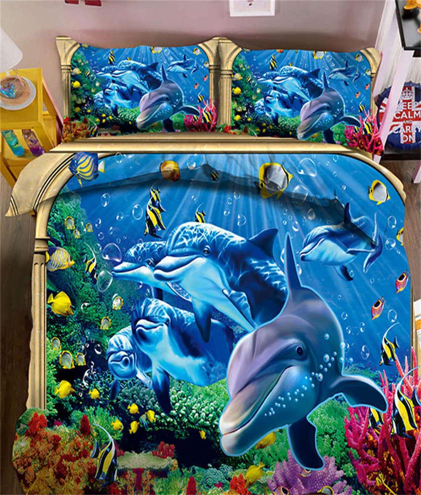 Active Turtle 3D Printing Duvet Quilt Doona Covers Pillow Case Bedding Sets