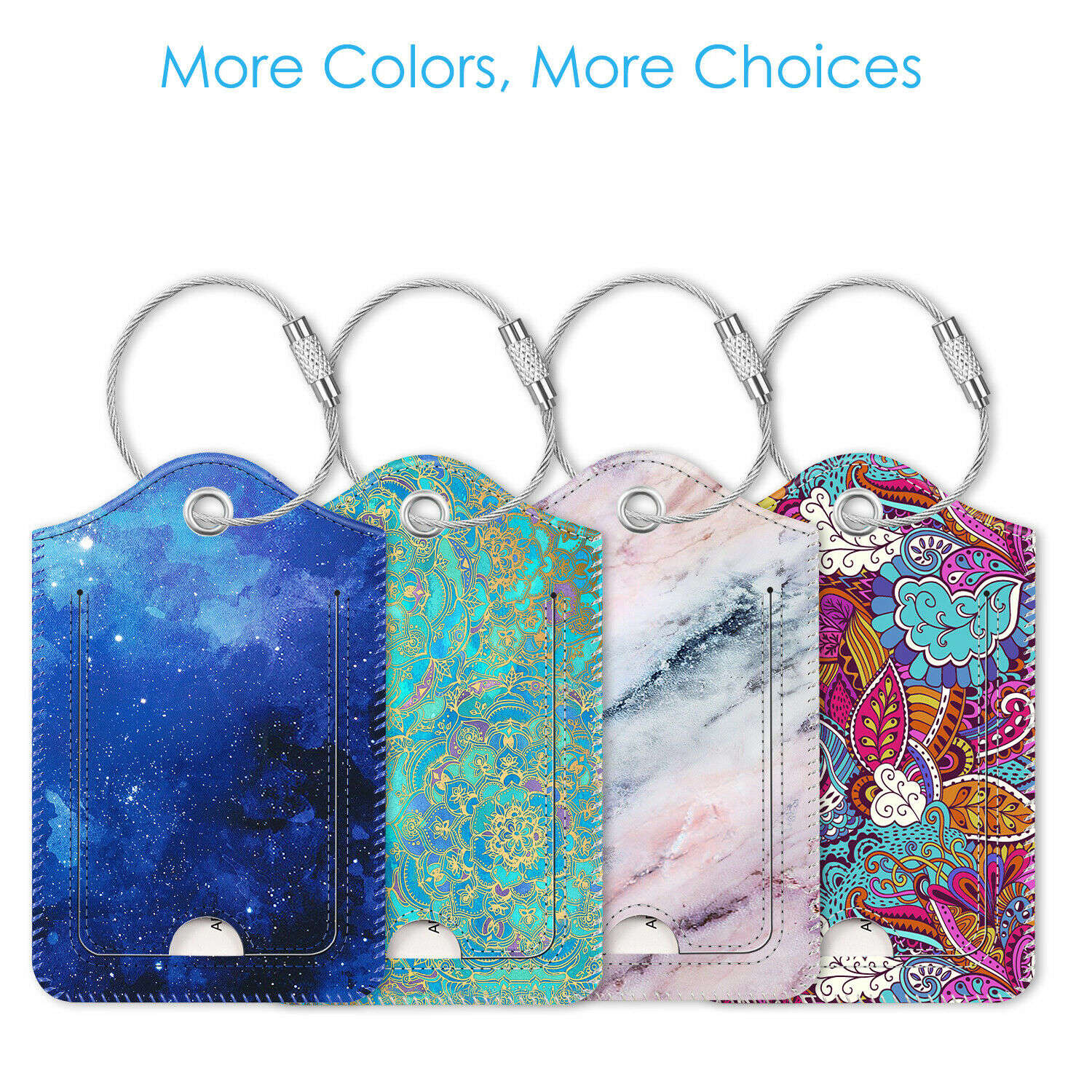 Bears of the world pattern Luggage Tags Suitcase Labels Bag Travel Accessories Set of 2
