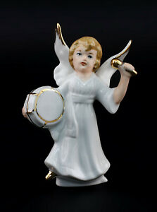 9942872-Porcelain-Figurine-Wagner-amp-Apel-Angel-with-Drum-Christmas-H10cm