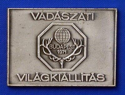 1971 Int´l Jagdausstellung Budapest Teilnehmer Plakette: Olcsai Fortgeschrittene Technologie üBernehmen