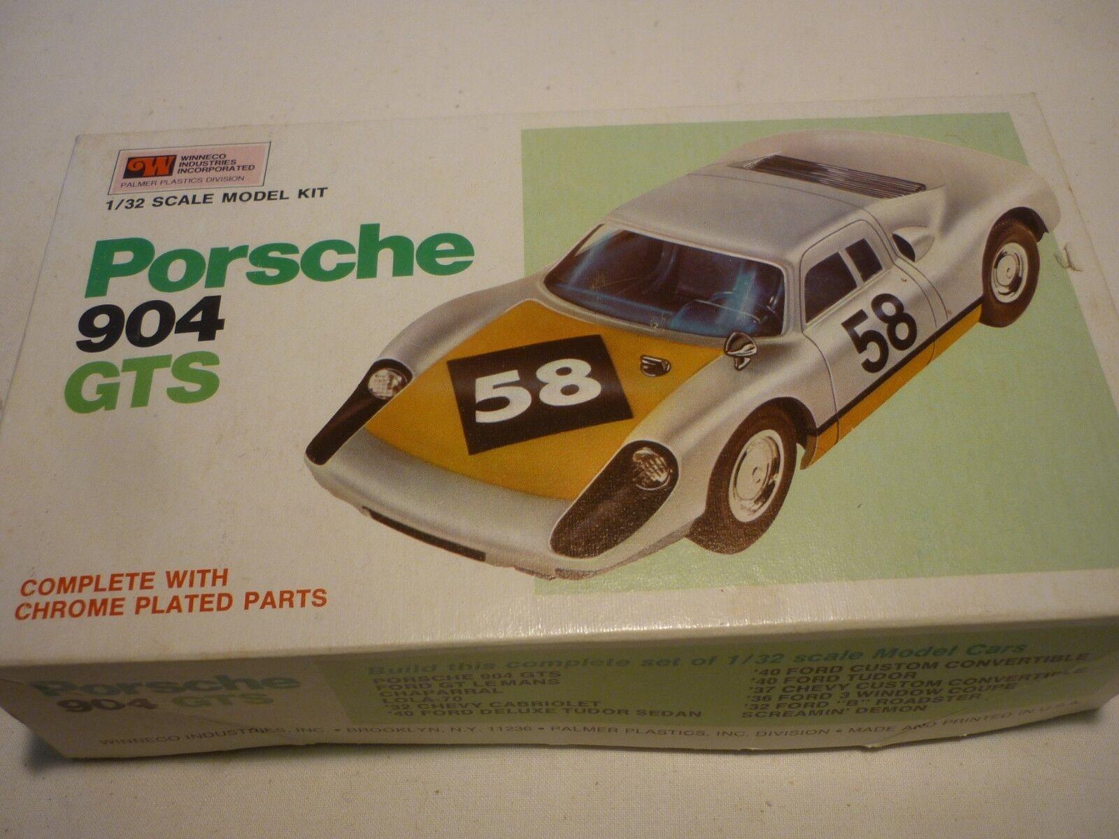 A Vintage Winneco industries Palmer un-made plastic kit of a Porsche 904 GTS..