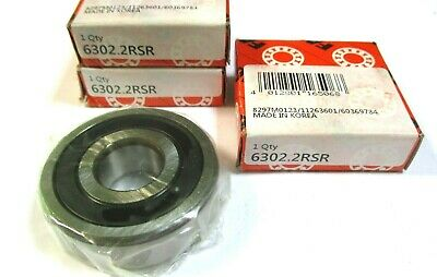 2 x Rillenkugellager 6202-16-2RS 16mm ID 35mm AD  11mm Bohrung Z2