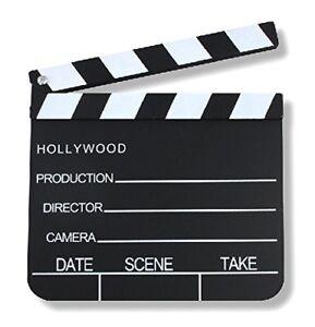 S-O-Regieklappe-20x18cm-Filmklappe-Szenenklappe-Hollywood-Kreidetafel