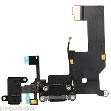 CONNETTORE CARICA DOCK MICROFONO RICARICA AUDIO FLEX PER APPLE IPHONE 5 NERO