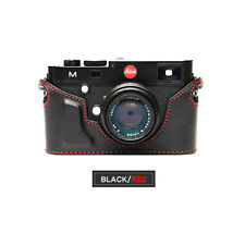 Ciesta Leather Case Leica M Black Red Stitching