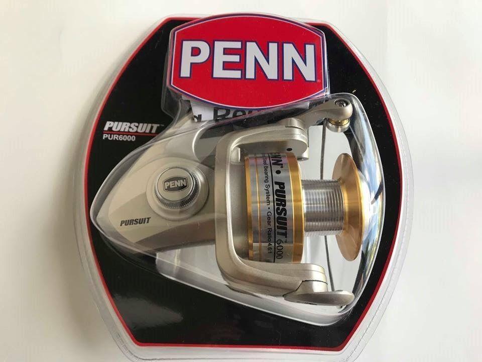 PENN PURSUIT fishing Reel PUR6000 Ratio 4.6 1 aluminum spool sideplate fish NEW