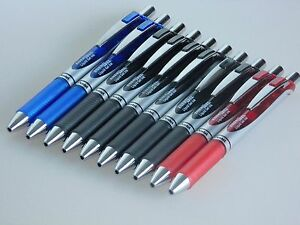 Pentel-EnerGel-Tintenroller-10-Stueck-BL77-Gelroller-0-7-Xm-Liquid-Ink-Gel-Stift