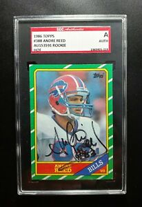 1986 Topps Andre Reed SGC Cert Signed Autograph Bills Rookie Card HOF NICE