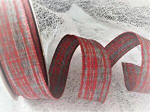 Luxury Wire Edge Ribbon 60mm Club Green Festive STAG Woodland Christmas