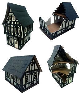 Tudor-Style-Buildings-Scenery-Medieval-Terrain-28mm-War-Games-Gaming-Terrain