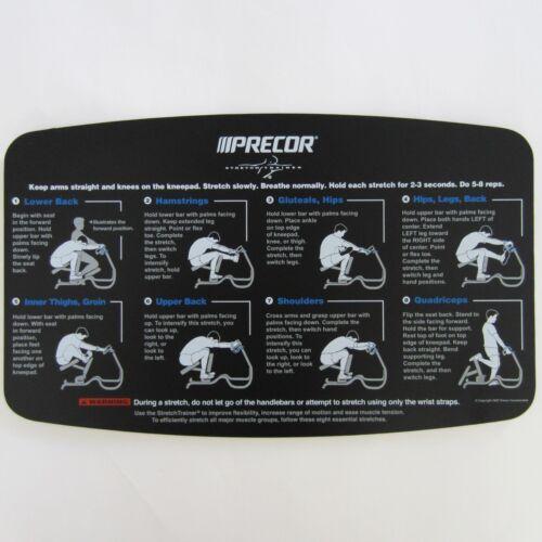 Precor Stretch Trainer C240 Face Plate Placard V3
