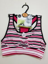 ef30531d253e4 item 2 M S Pink Black Stripe Non Wired Medium Impact Sports Bra Small BNWT  RRP £16 -M S Pink Black Stripe Non Wired Medium Impact Sports Bra Small  BNWT RRP ...