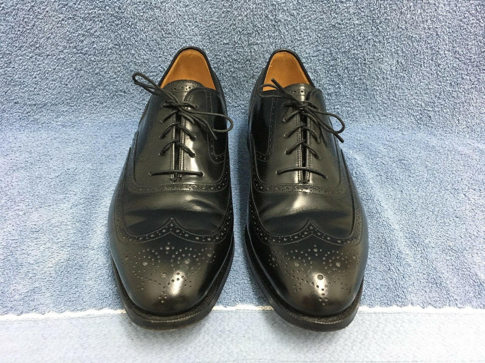 JOHNSTON & MURPHY LIMITED WING TIP OXFORD SHOES MEN'S SIZE 10 1/2 C USA EUC