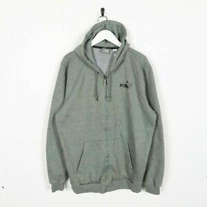 Vintage-PUMA-Small-Logo-Zip-Up-Hoodie-Sweatshirt-Grey-Large-L