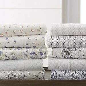 The-Home-Collection-4-Piece-Pattern-Bed-Sheet-Sets-6-Designs