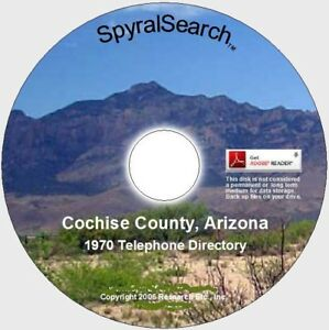 Details about AZ - Cochise County: Sierra Vista – Fort Huachuca Area 1970  Phone Book on CD