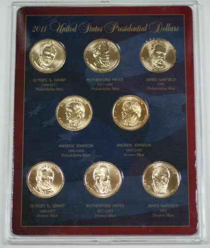 2011 United States Presidential Dollars Collection P/&D Mint Marks all Presidents