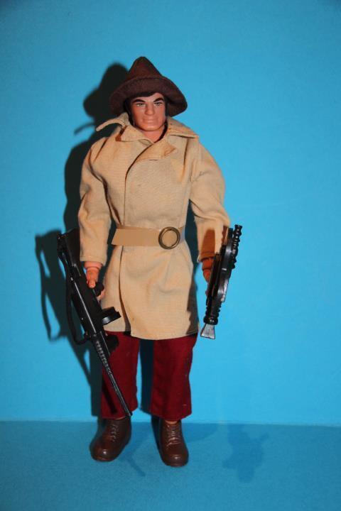Vintage Big Jim action figure doll Mattel Double Trouble Gangster set