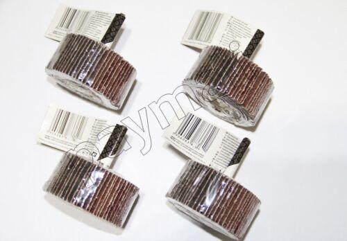 4 x Fächerschleifer 80x40x6  60K-80K-100K-120K  Schleifmop Schleifstift