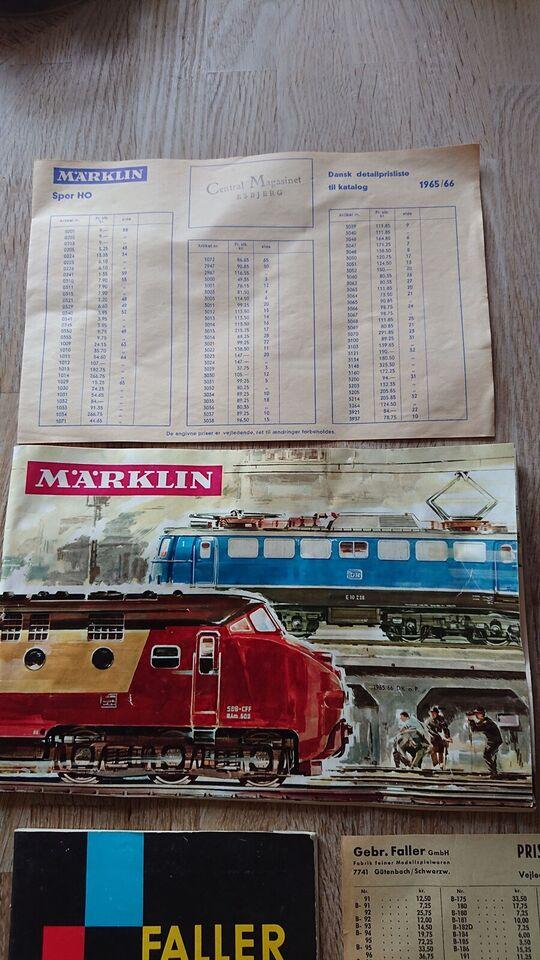 Modeltog, Märklin + Faller Katalog