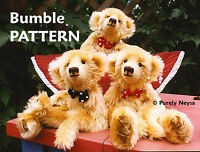 "Mohair  Plush  ""Bumble""  Teddy Bear PATTERN by Neysa A. Phillippi  Purely Neysa"