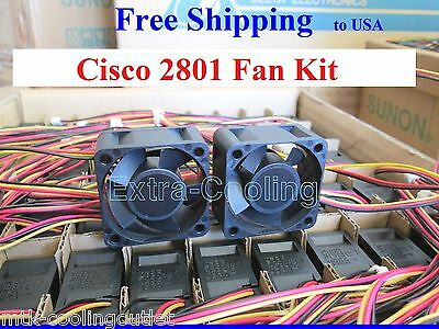 Genuine Cisco 2801 Router Replacement fan kit CISCO2801-FANKIT 2x new fans
