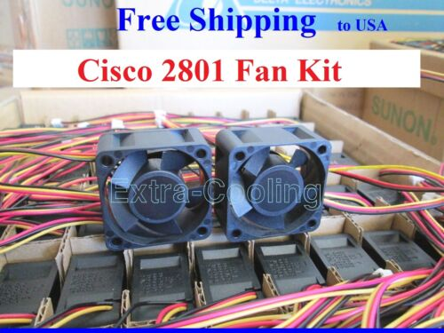 Set of 2x new fans for Cisco 2801 Router CISCO2801 CK-2801-FAN-1/2 ...