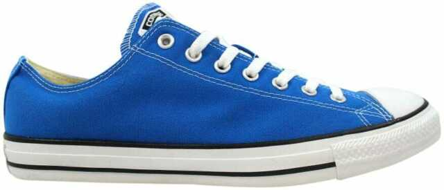 c81a449ebf0b05 Converse All Star Ox Mens 139791f Electric Blue Lemonade Canvas Shoes Size  10