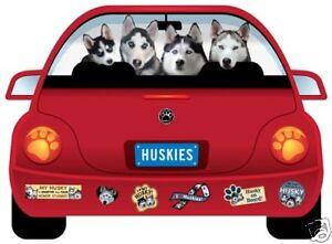 HUSKY PUPMOBILE  car magnet