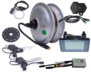 """E-Bike Conversion Kit 28/"""" FRONT WHEEL FWD 36V 250W Disc Water Resistant IP65 1 Cable"""