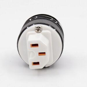 2XHIFI-Red-copper-IEC-connector-US-EU-AU-AC-power-plug-for-Diy-audio-power-cable