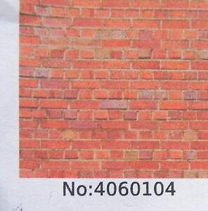"A4 sheet O gauge /""red//orange brick 1:48 scale english bond /"" paper"