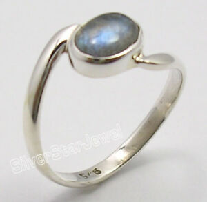 925-Sterling-Silver-BLUE-FIRE-LABRADORITE-Gem-LATEST-STYLE-UNISEX-Ring-Any-Size